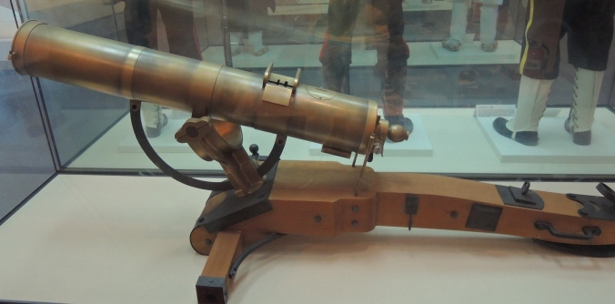 Replica machine gun used by Japanese forces against the Donghak army