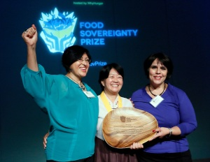 Jeomok Bak receives the Food Sovereignty Prize (Stuart Ramson/Insider Images for WhyHunger)